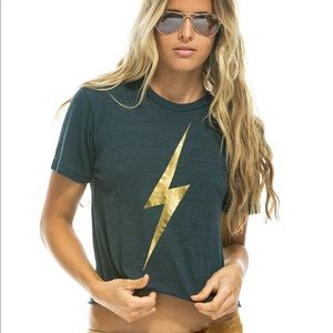 Aviator Nation Metallic Boyfriend Tee